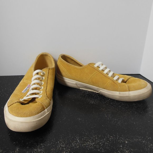 Superga Mustard Yellow Suede Shoes Size